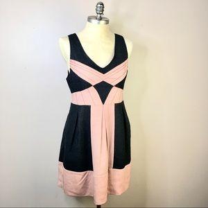 Kimchi Blue Pink Gray Wool pockets Dress Fit Flare